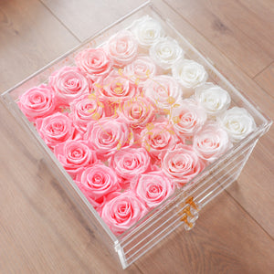 Crystal Vanity Flower Box - 25 Roses