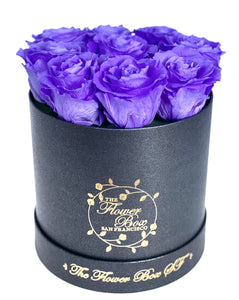 Black Round Logo Flower Box