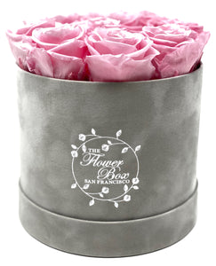 Grey Suede Flower Box