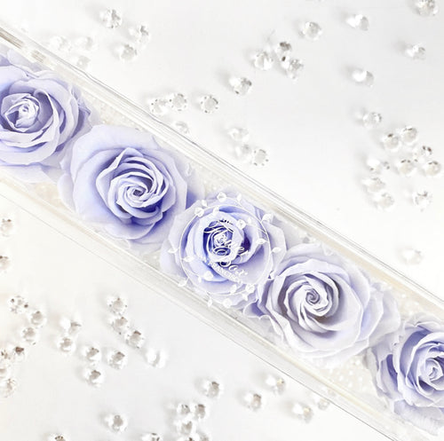 Crystal Flower Box with Diamonds - 5 Roses