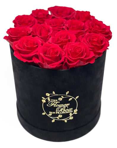 Black Suede Flower Box