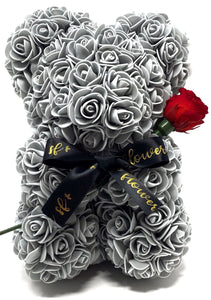 Forever Flower Baby Bear With Single Rose That Last A Year