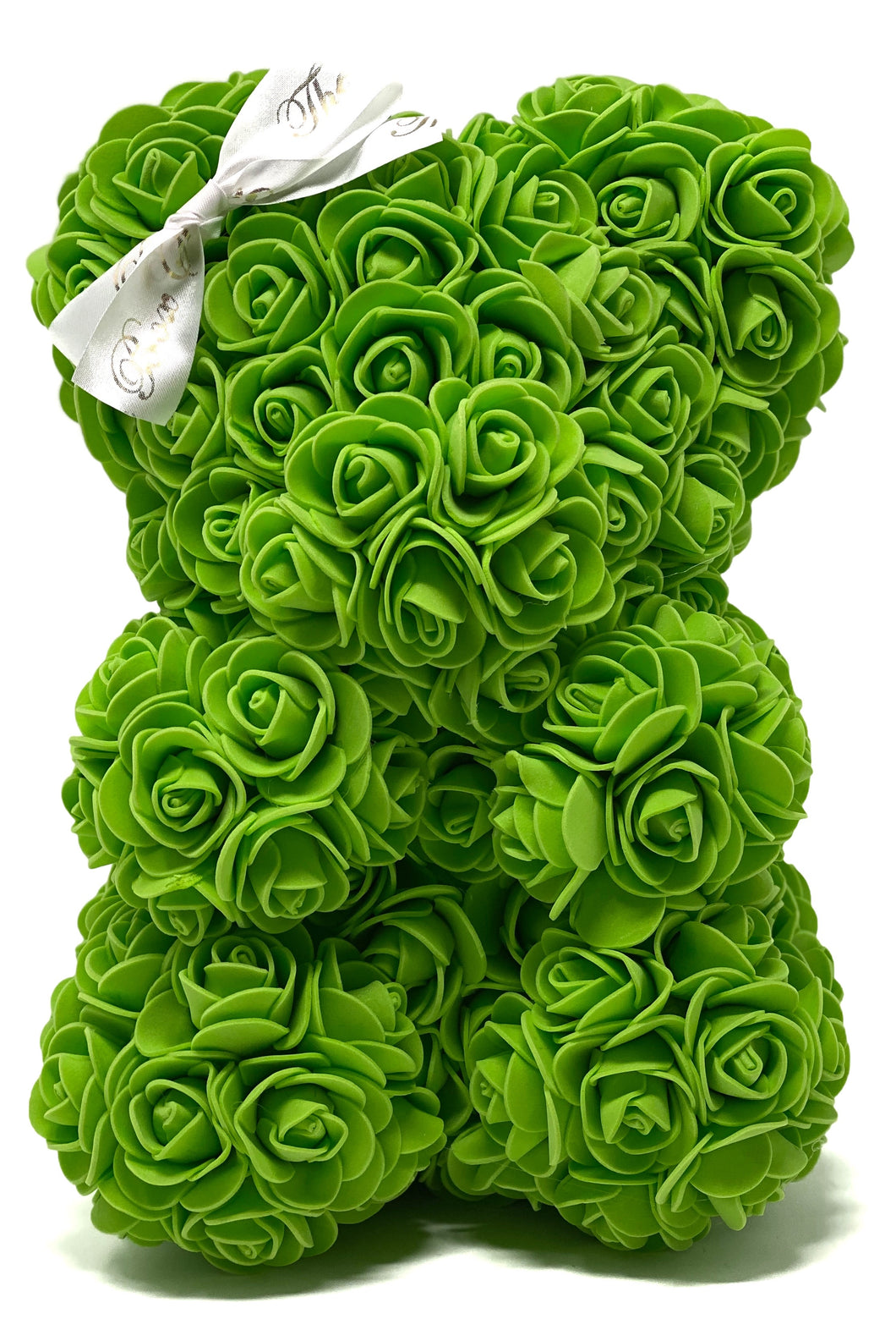 SALE Green Forever Flower Baby Bear