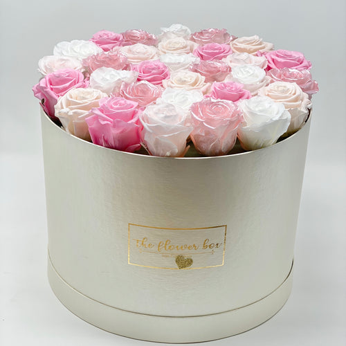 Large Round Logo Flower Box