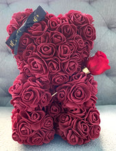Load image into Gallery viewer, Forever Flower Baby Bear With Single Rose That Last A Year