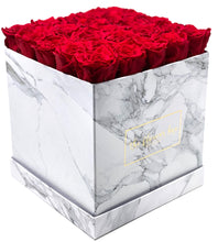 Load image into Gallery viewer, Marble Flower Box - 25 Roses