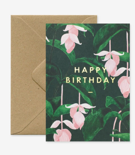 Carte postale de Happy Birthday fleurs de All the way to say
