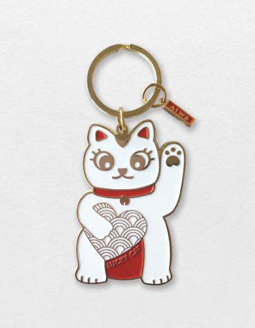 Porte clés Lucky Cat de All the way to say