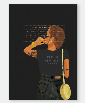 Note book de 64 pages Proud feminist de All the way to say