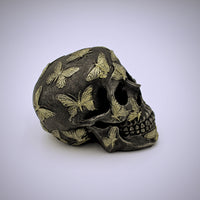 Butterflies Design Skull Sculpture - The Cranio Collections