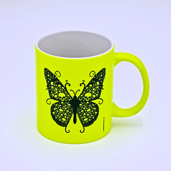 Butterfly with Skulls Ceramic Mug - The Cranio Collections