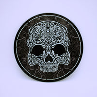 Celtic Skull Design Round Glass Cutting Board - The Cranio Collections