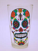 Day of the Dead Sugar Skull Drinking Glass - The Cranio Collections