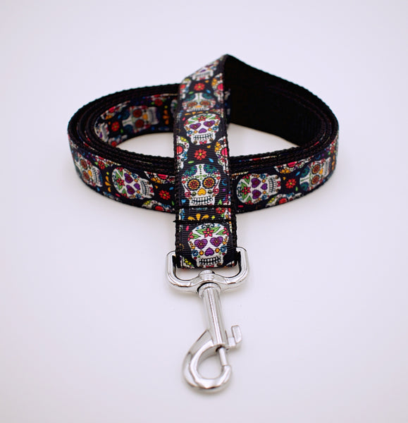Day of the Dead Sugar Skull Dog Leash - The Cranio Collections