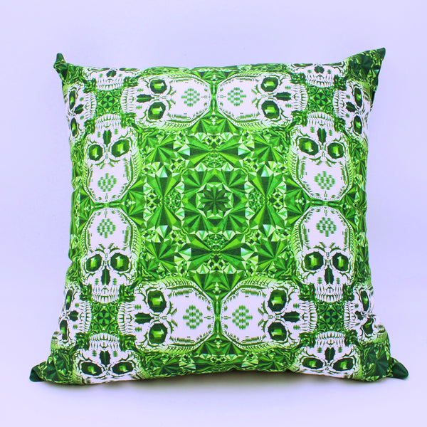 Emerald Green Skull Throw Pillows Set of 2 - The Cranio Collections