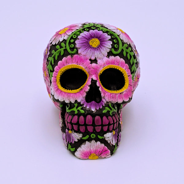 Flower Petals Sugar Skull Sculpture - The Cranio Collections
