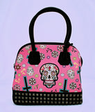 Skull and Cross Print Purse with Coin Wallet - The Cranio Collections