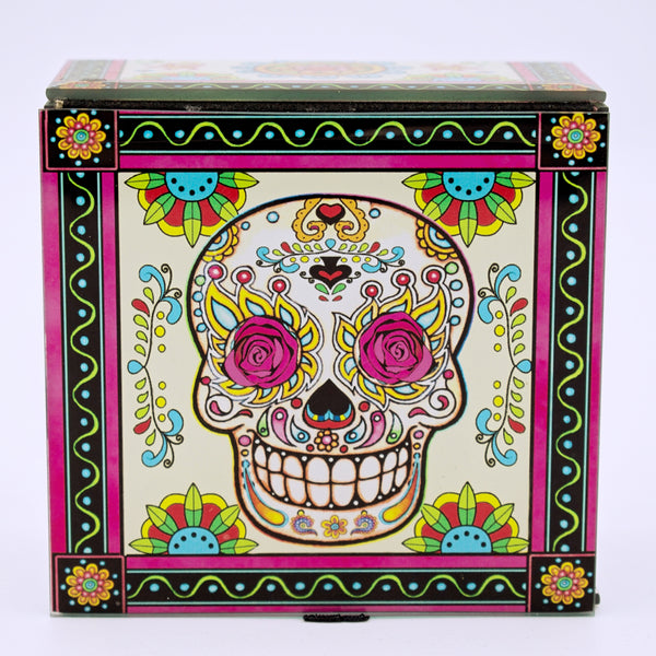 Sugar Skull Glass Storage Box - The Cranio Collections