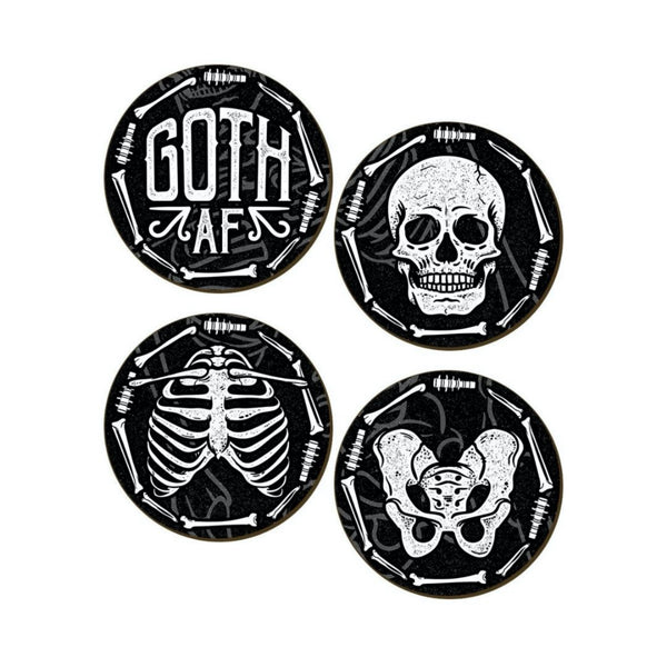 Goth AF Beverage Coasters- Set of 4 - The Cranio Collections