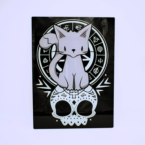 Kitty of the Night Glass Cutting Board - The Cranio Collections