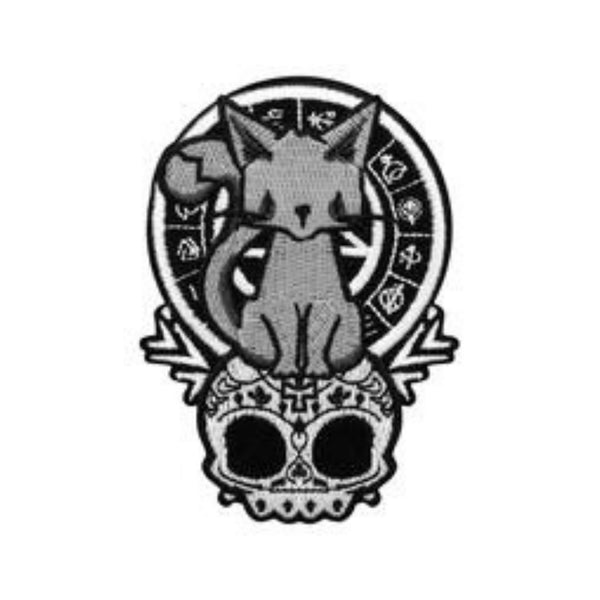 Kitten of the Night Embroidered Patch - The Cranio Collections