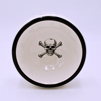 Skull and Crossbones Ceramic Small Pet Bowl - The Cranio Collections