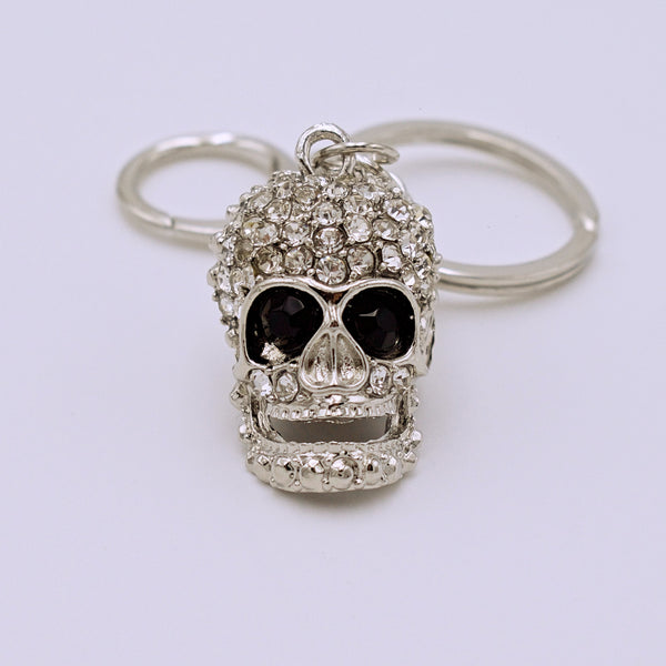 Rhinestone Skull Key Ring - The Cranio Collections