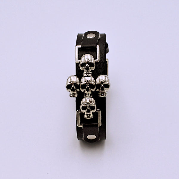 Skull Cross Punk Goth Bracelet - The Cranio Collections
