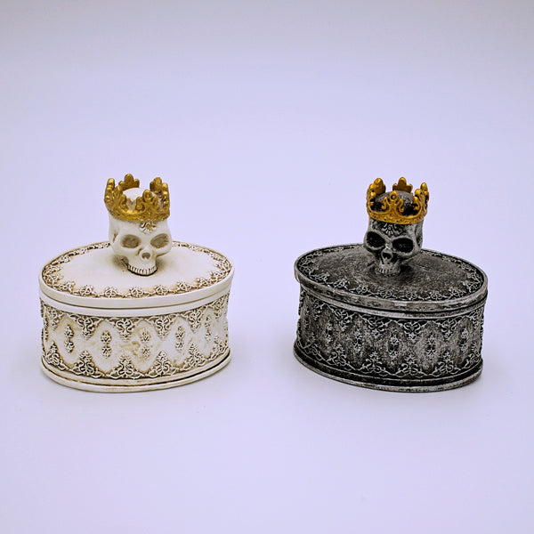 Crowned Skull Trinket Box - The Cranio Collections