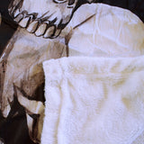 Sherpa Throw Blanket with Skull Design - The Cranio Collections