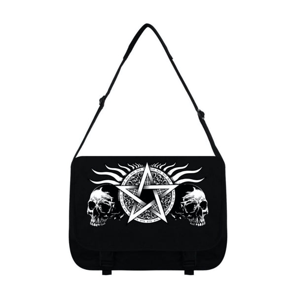 Skull and Pentagram Messenger Bag - The Cranio Collections