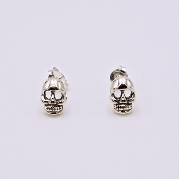 Sterling Silver Skull Post Earrings - The Cranio Collections
