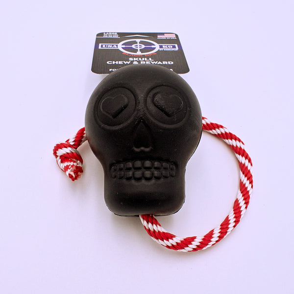 Rubber Skull Pull and Reward Toy - The Cranio Collections