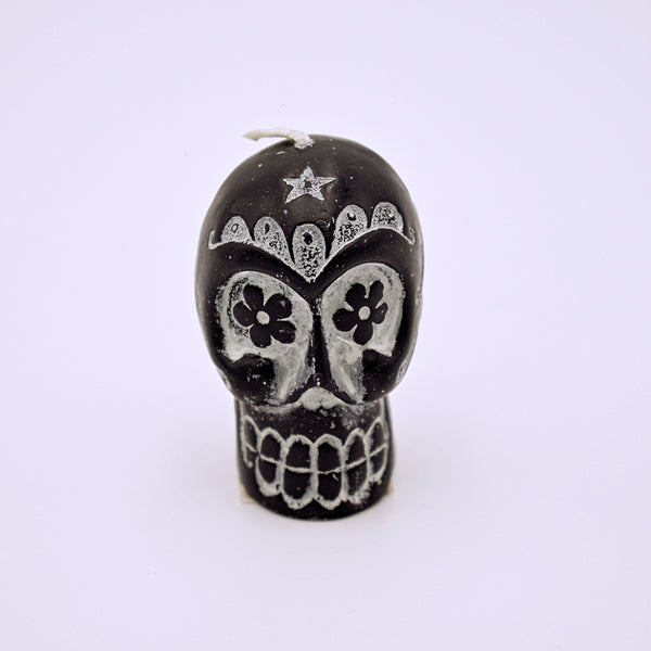 Small Sugar Skull Candle - The Cranio Collections