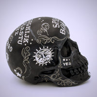 Spirit Board Black Skull Sculpture - The Cranio Collections