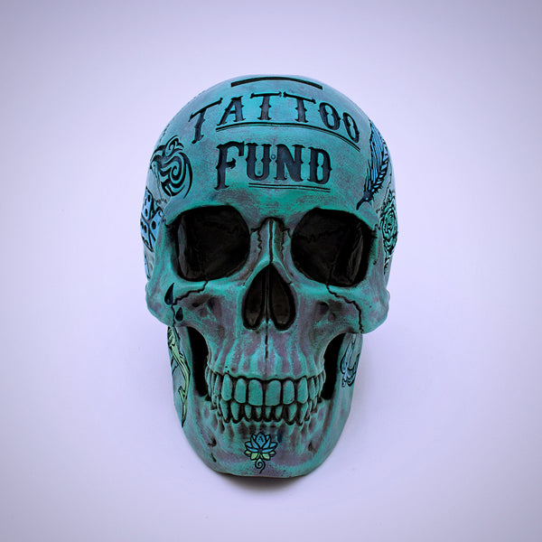 Tattoo Fund Skull Shaped Money Bank - The Cranio Collections