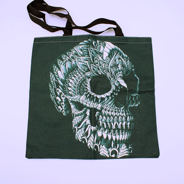 Skull Printed Tote Bag - The Cranio Collections