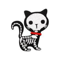 Skeleton Kitten Embroidered Patch - The Cranio Collections