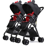 Twin baby strollers ultra light portable