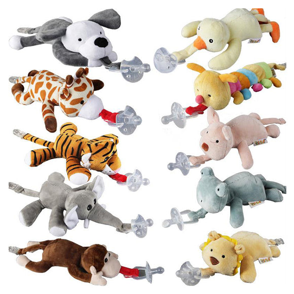 Baby Pacifier Chain Clip Hanging Plush Animal Toy