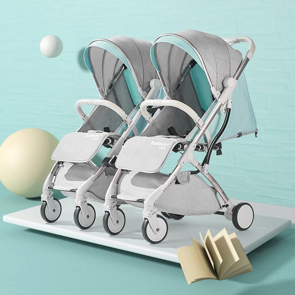 Twins baby folding portable ultra light detachable stroller