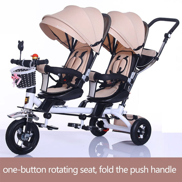 Twin Baby Stroller Tricycle
