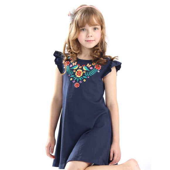 baby girls summer embroidery dress