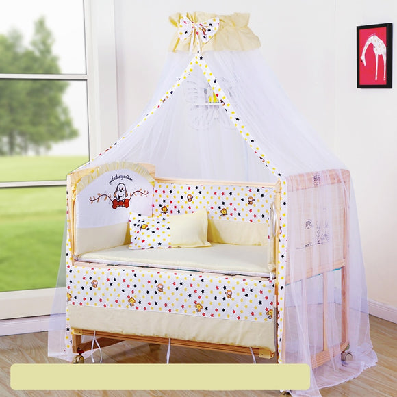 Baby Crib Bumper Soft Breathable Cotton Cradle Bed Protector