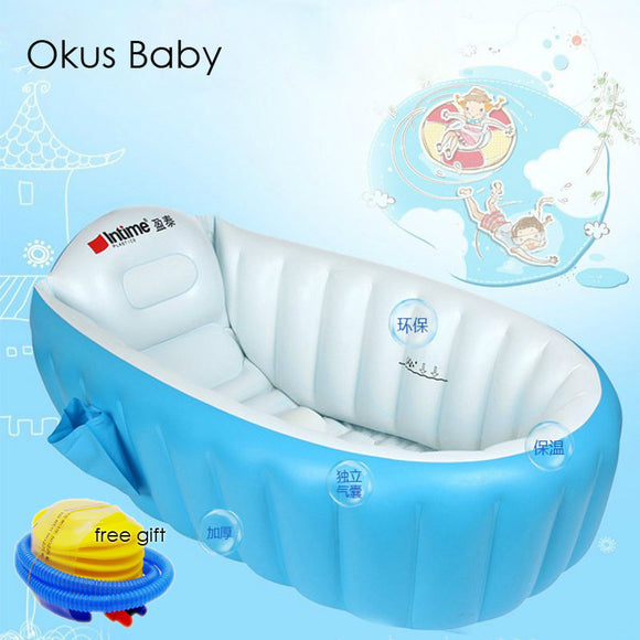 Portable bathtub inflatable bath tub Child tub Cushion Warm winner keep warm folding Portable bathtub With Air Pump Free Gift