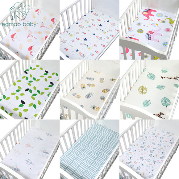 100% Cotton Crib Fitted Sheet Soft Baby Bed Mattress Cover Protector