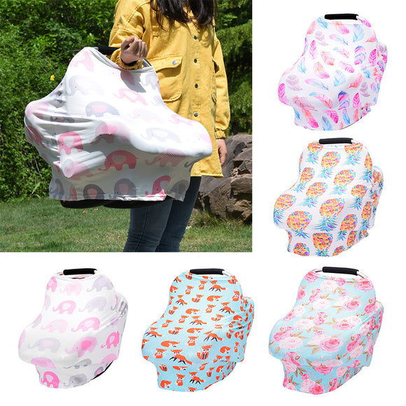 Flowers Printed Baby Nursing Privacy Cover
