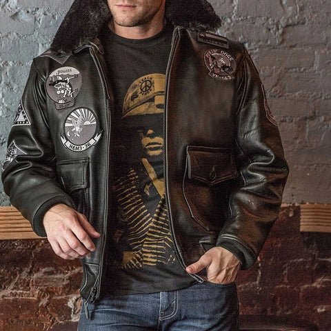 Bogard by Mike B x Cockpit USA - Blouson aviateur Stealth Top Gun