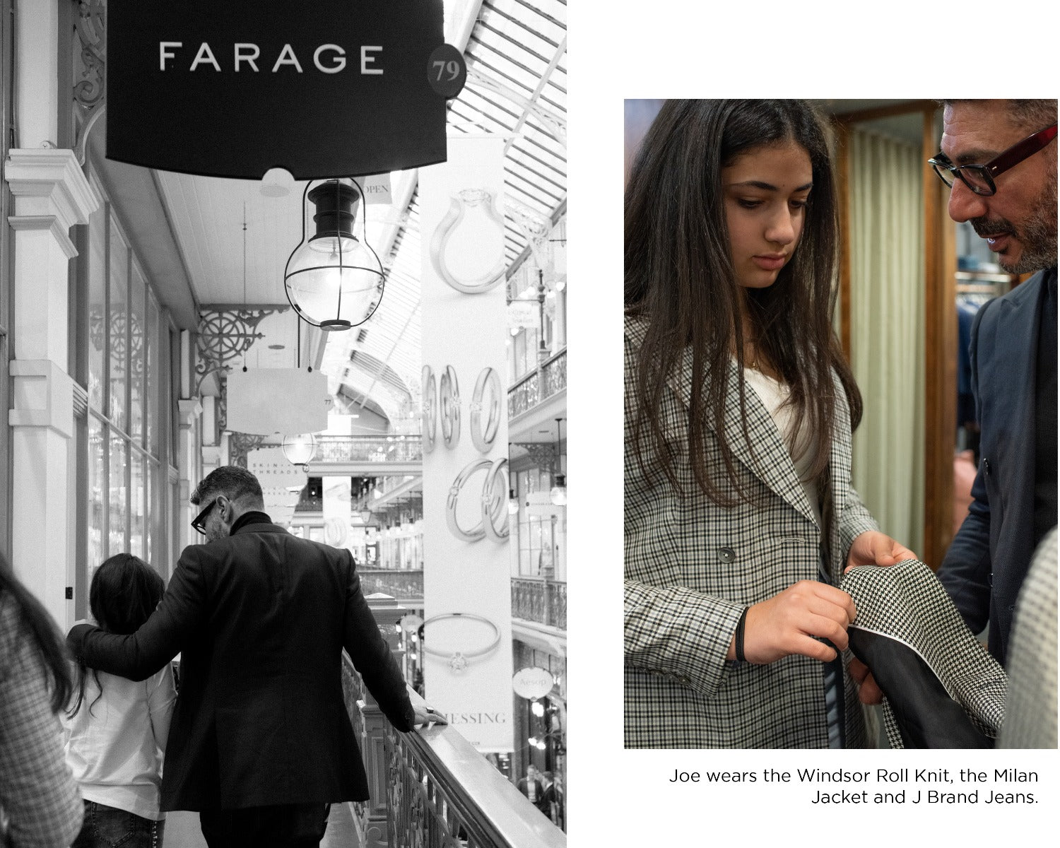 Joe Farage with his 3 daughters at the Strand Arcade