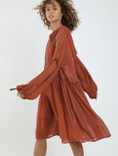 Load image into Gallery viewer, Nancy Embroiedery Hoodie Dress